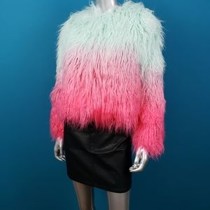 ASOS Ombre Faux Fur Festival Jacket / (NWT)